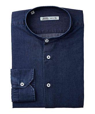 Maurizio Baldassari Collarless Cotton Shirt