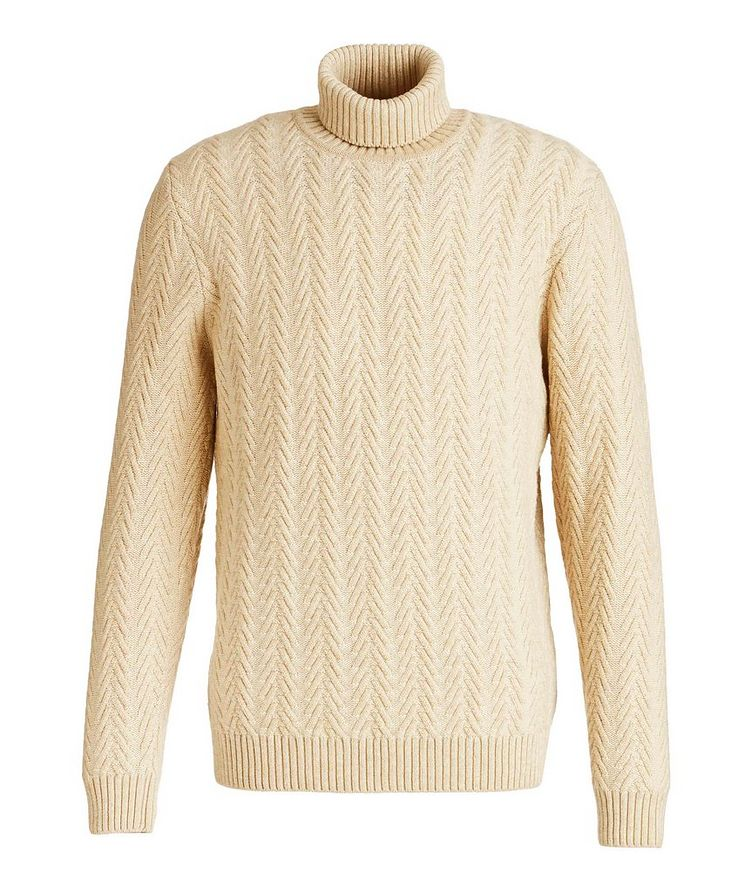 Cable Knit Cashmere Turtleneck image 0