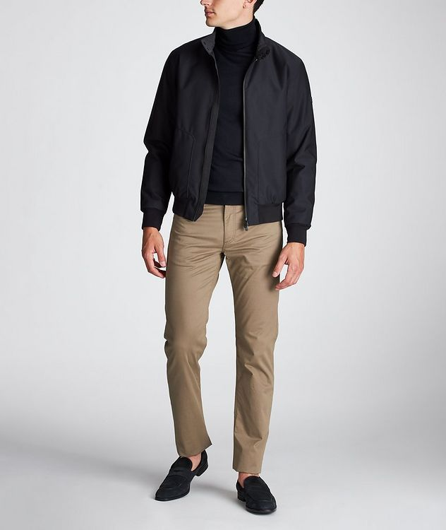 Slim Fit Stretch-Cotton Pants picture 5