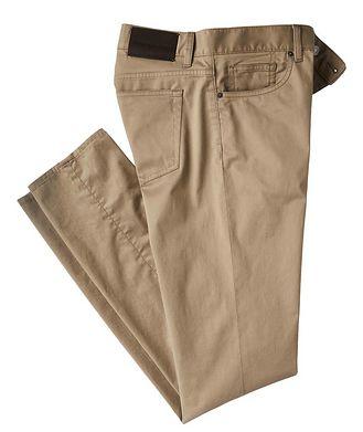Ermenegildo Zegna Slim Fit Stretch-Cotton Pants