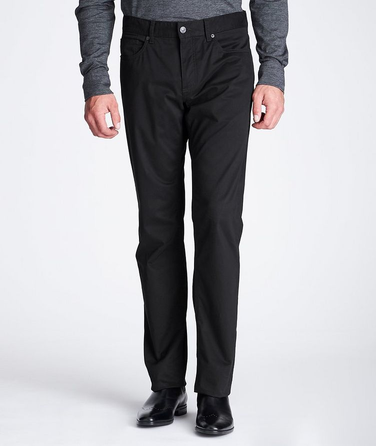 Slim Fit Stretch-Cotton Pants image 1