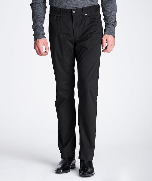 Slim Fit Stretch-Cotton Pants picture 2