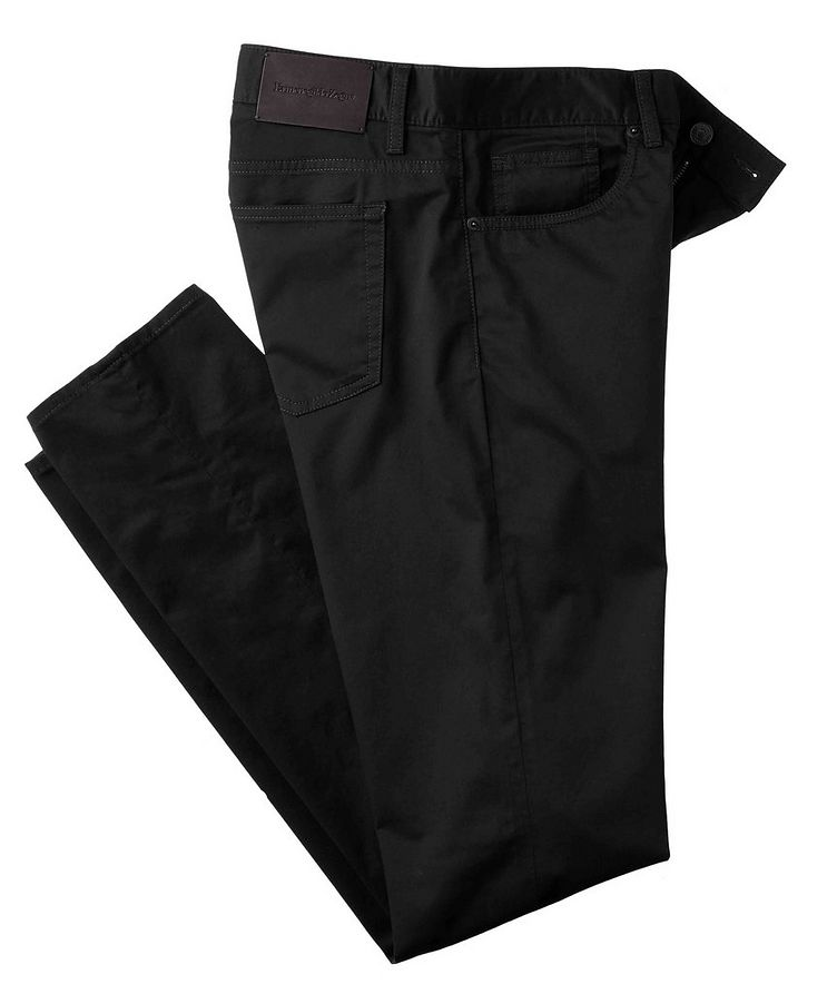 Slim Fit Stretch-Cotton Pants image 0
