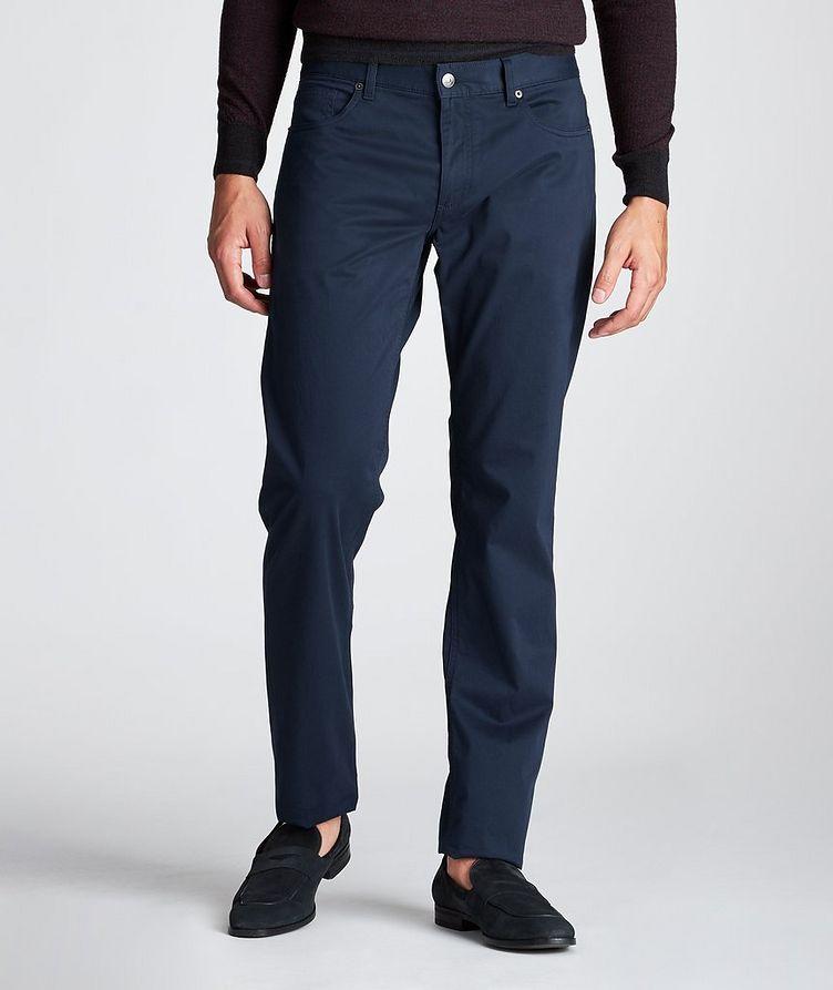 Slim Fit Stretch-Cotton Pants image 1
