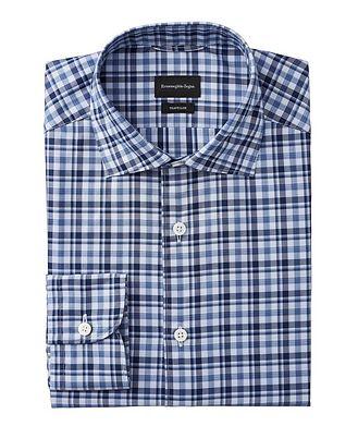 Ermenegildo Zegna Tailored Fit Checked Traveler Dress Shirt
