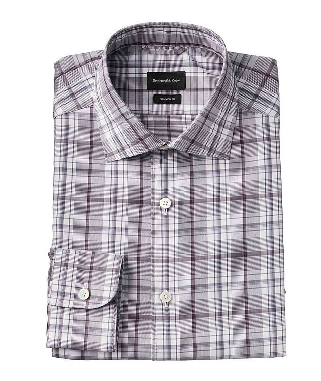 Slim Fit Micro-Plaid Shirt picture 1