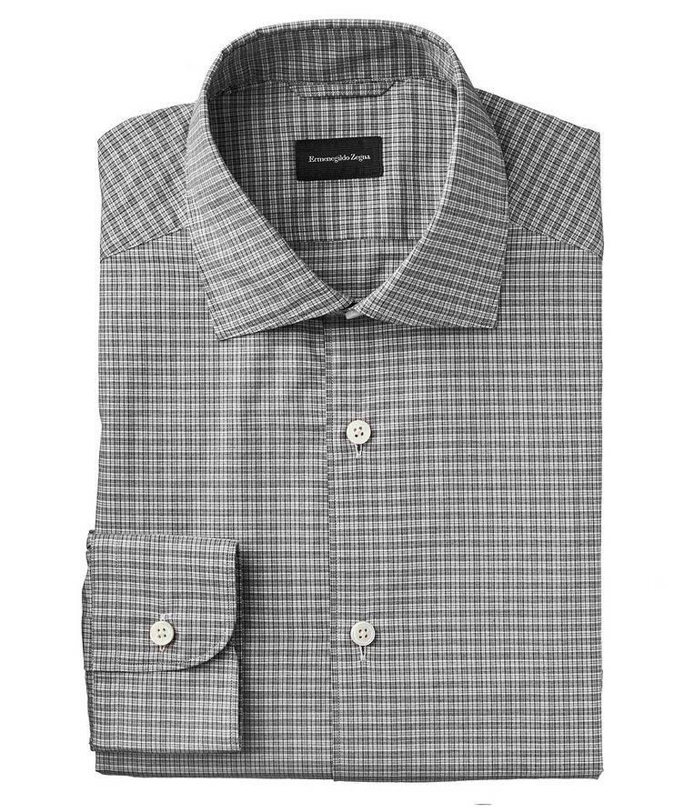 Slim Fit Micro-Plaid Shirt image 0