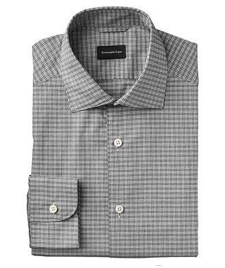 Ermenegildo Zegna Slim Fit Micro-Plaid Shirt