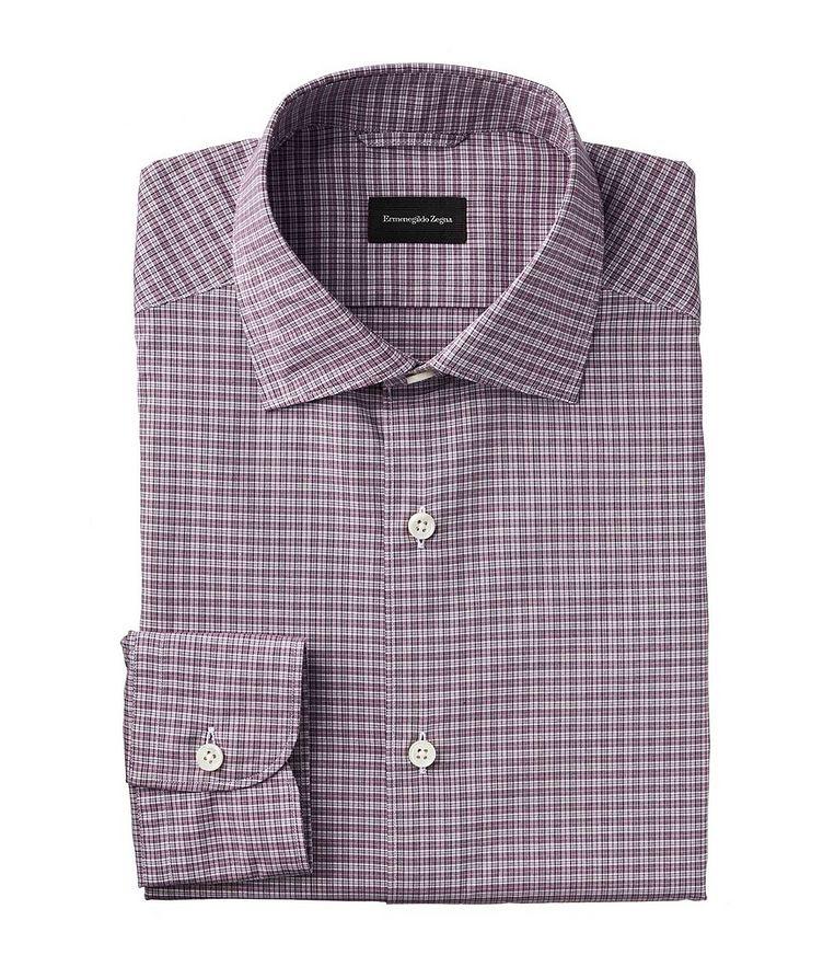 Slim Fit Micro-Plaid Shirt image 0