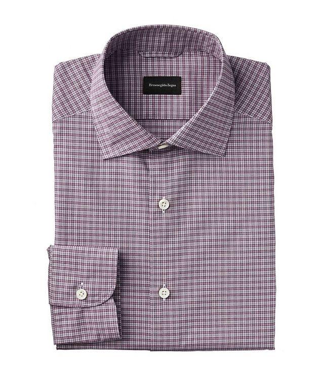 Slim Fit Micro-Plaid Shirt picture 1