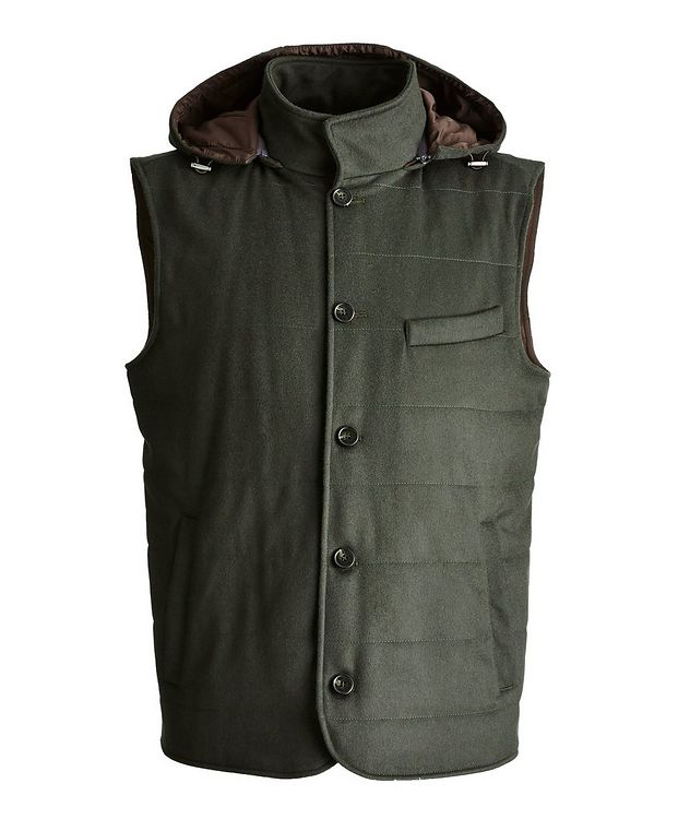 Hooded Cashmere Vest picture 1