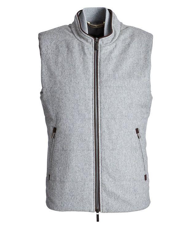 Zip-Up Cashmere Vest picture 1