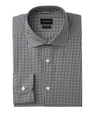 Ermenegildo Zegna Cento Quaranta Checked Cotton Shirt