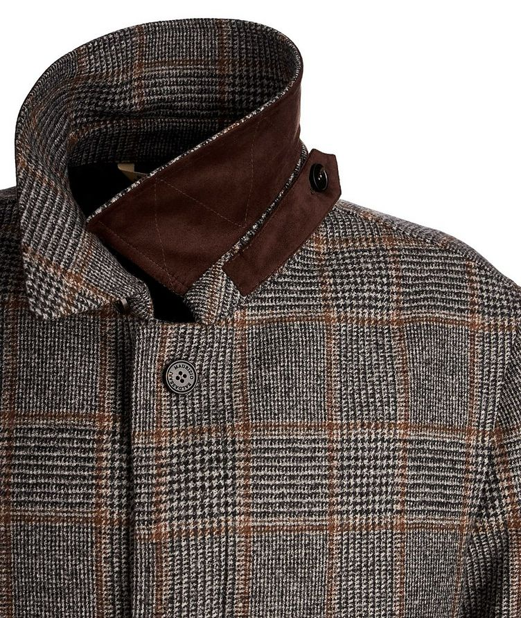 Checked Wool Coat image 2