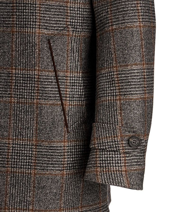 Checked Wool Coat image 3