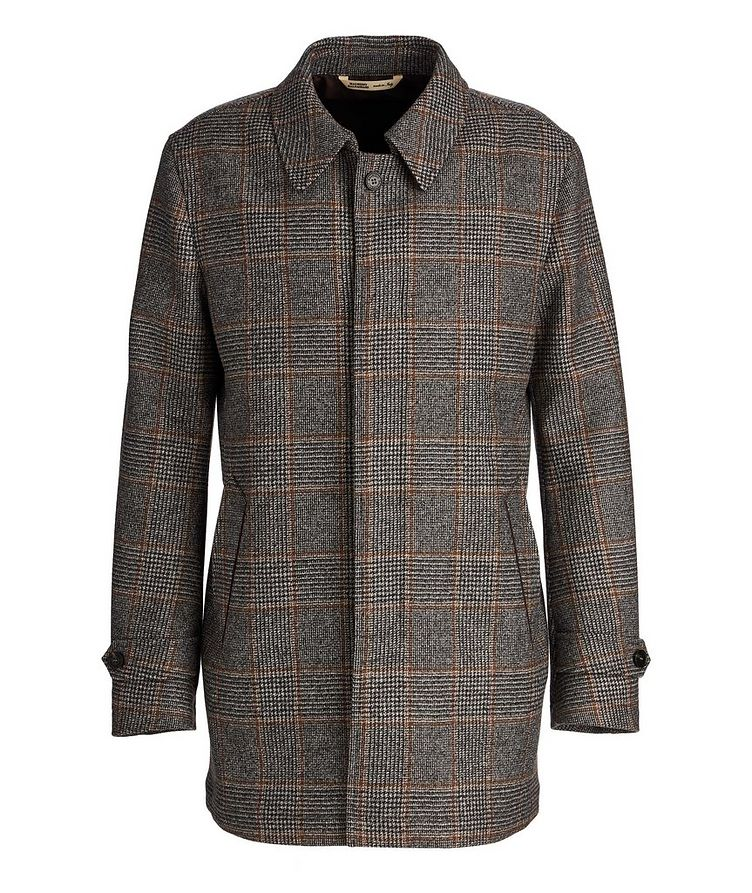 Checked Wool Coat image 0
