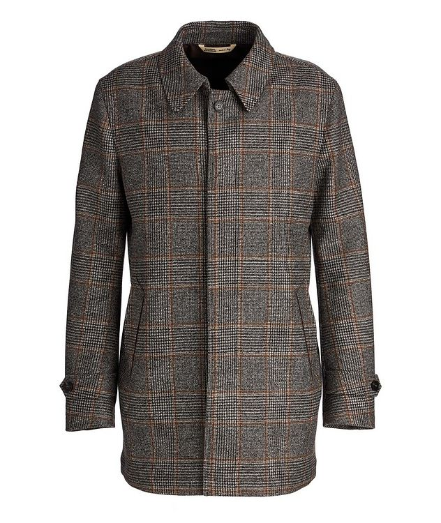 Checked Wool Coat picture 1