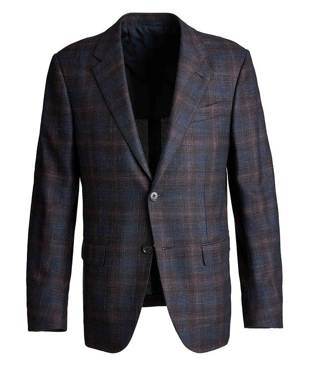 Milano Easy Checked Wool, Silk, Cashmere, and Linen Sports Jacket picture 1