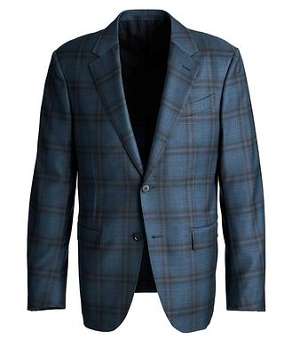Ermenegildo Zegna Milano Easy Checked Wool-Silk Sports Jacket