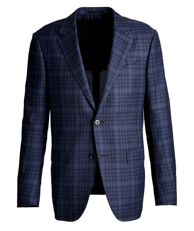 Milano Easy Checked Wool-Silk Sports Jacket picture 1