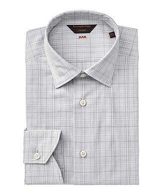 Ermenegildo Zegna Contemporary Fit Checked Couture Dress Shirt