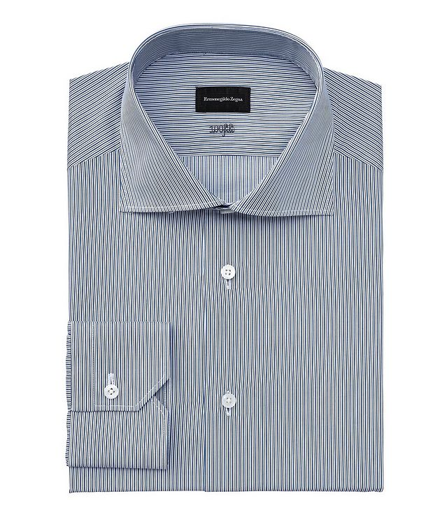 Milano Contemporary-Fit Striped Dress Shirt picture 1