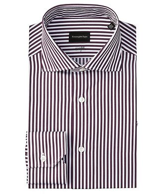 Ermenegildo Zegna Slim Fit 100fili Striped Dress Shirt