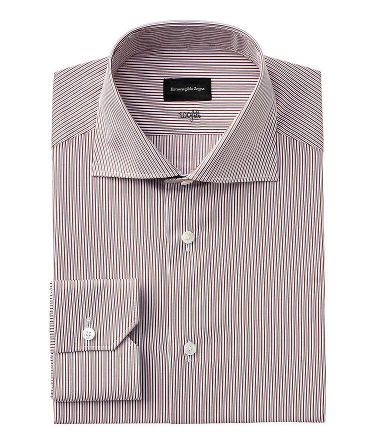 Slim Fit Striped 100fili Dress Shirt image 0