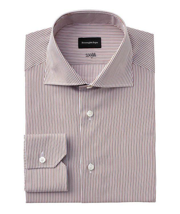 Slim Fit Striped 100fili Dress Shirt picture 1