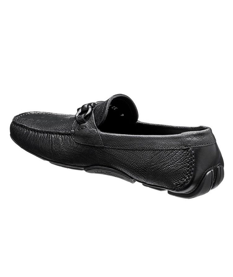 Ostrich Leather Gancini Bit Driving Shoes image 1