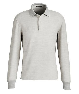 Ermenegildo Zegna Long-Sleeve Cotton-Wool Polo