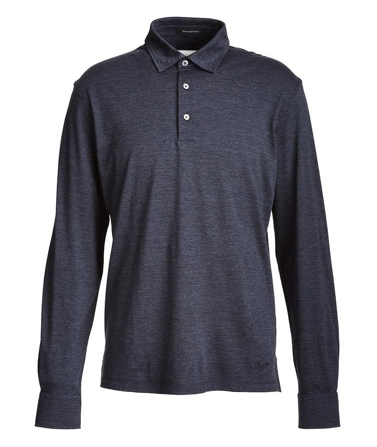 Long-Sleeve Cotton-Wool Polo image 0