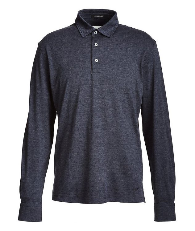 Long-Sleeve Cotton-Wool Polo picture 1