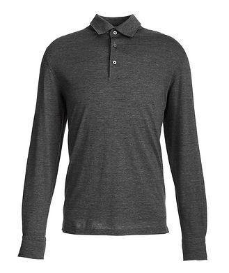 Ermenegildo Zegna Long-Sleeve Cotton-Wool Polo