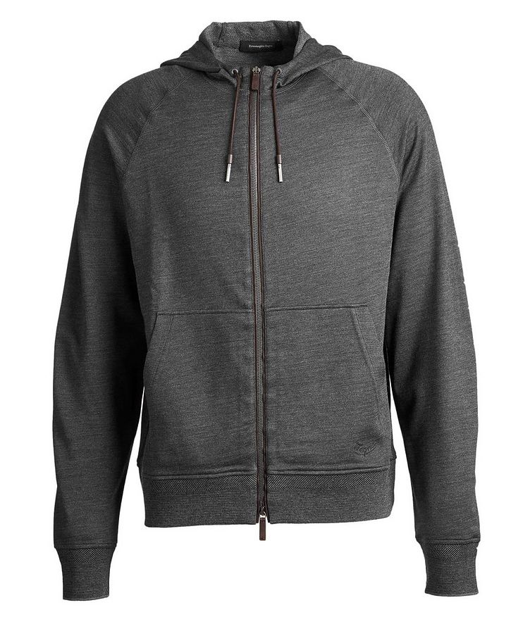Zip-Up Wool, Silk, and Cotton Hoodie image 0