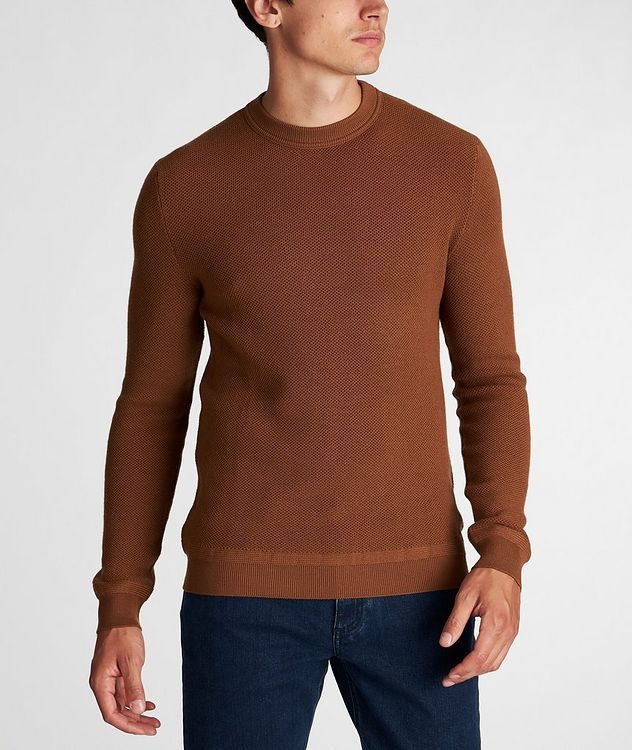 Waffle-Knit Wool-Cashmere Sweater picture 2
