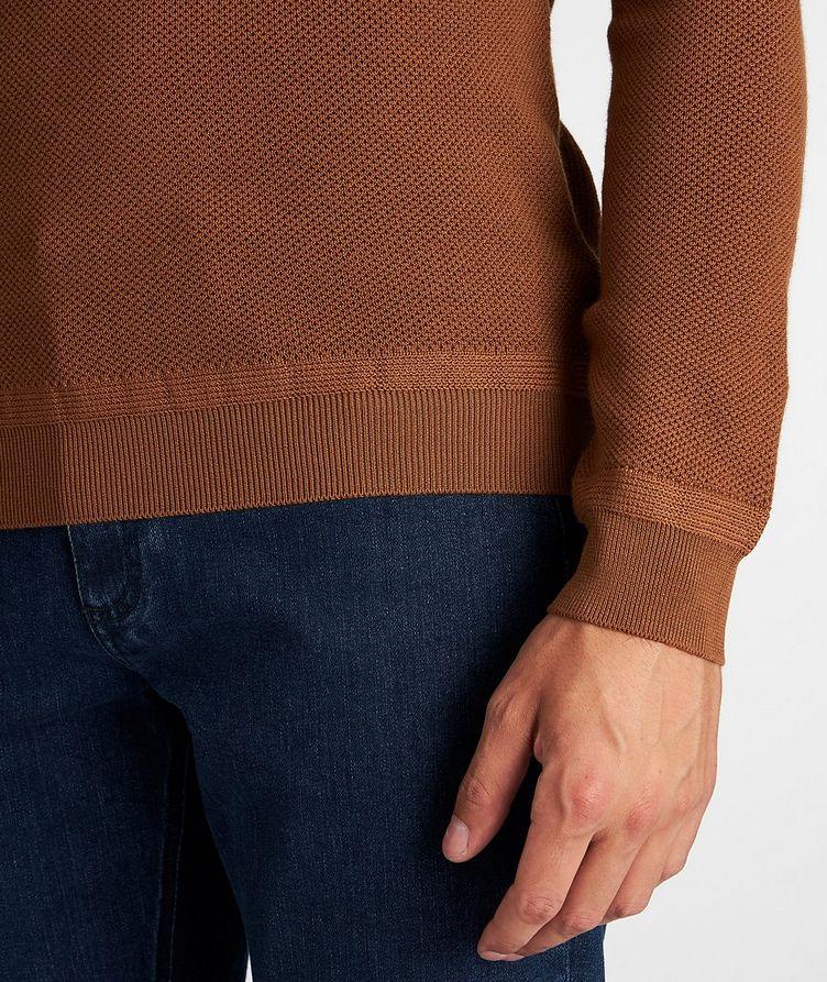 Waffle-Knit Wool-Cashmere Sweater image 3