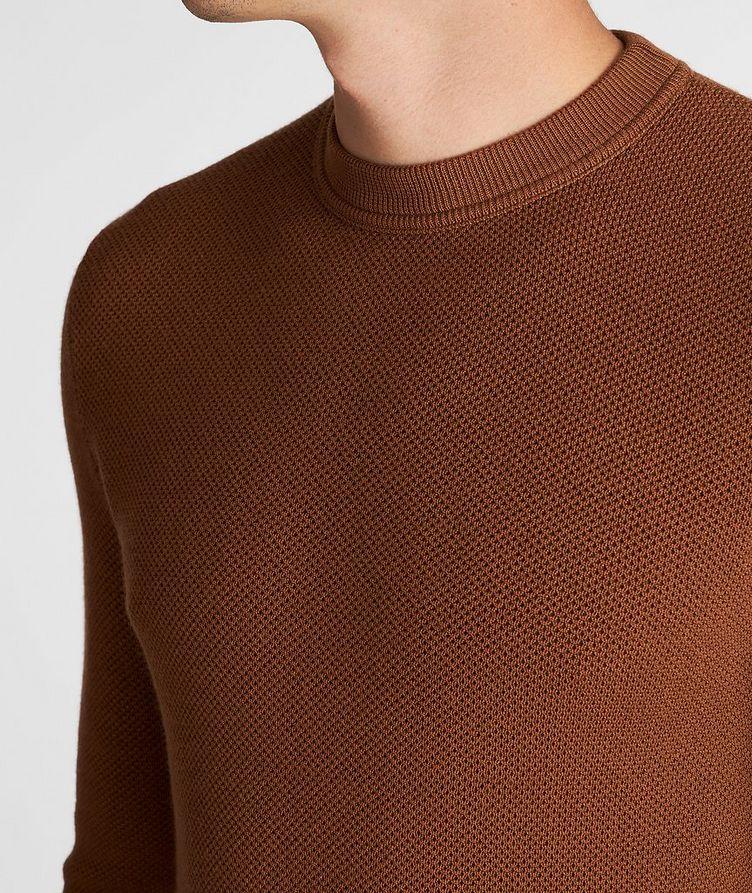 Waffle-Knit Wool-Cashmere Sweater image 4