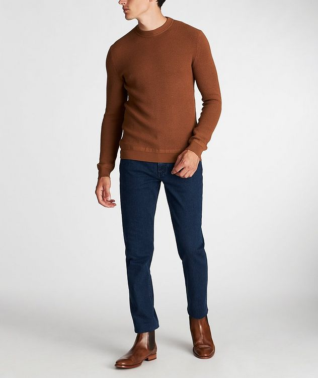 Waffle-Knit Wool-Cashmere Sweater picture 6