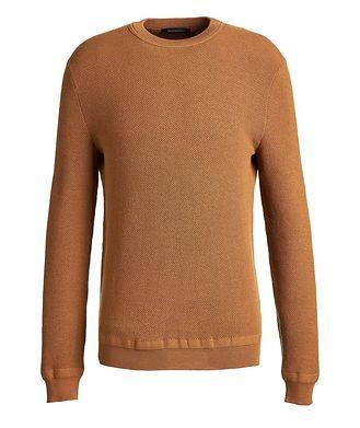 Ermenegildo Zegna Pull en tricot gaufré de laine et cachemire