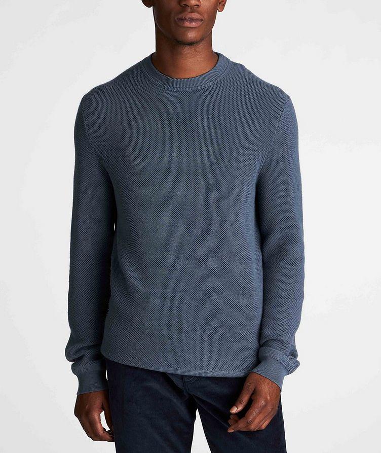Waffle-Knit Wool-Cashmere Sweater image 1