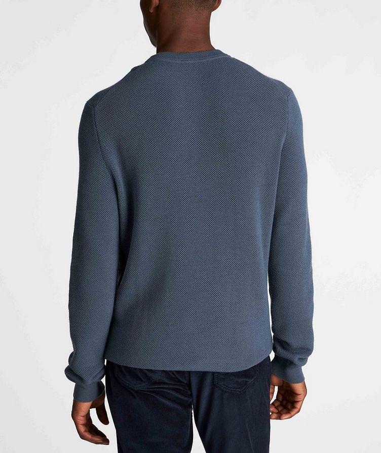 Waffle-Knit Wool-Cashmere Sweater image 2