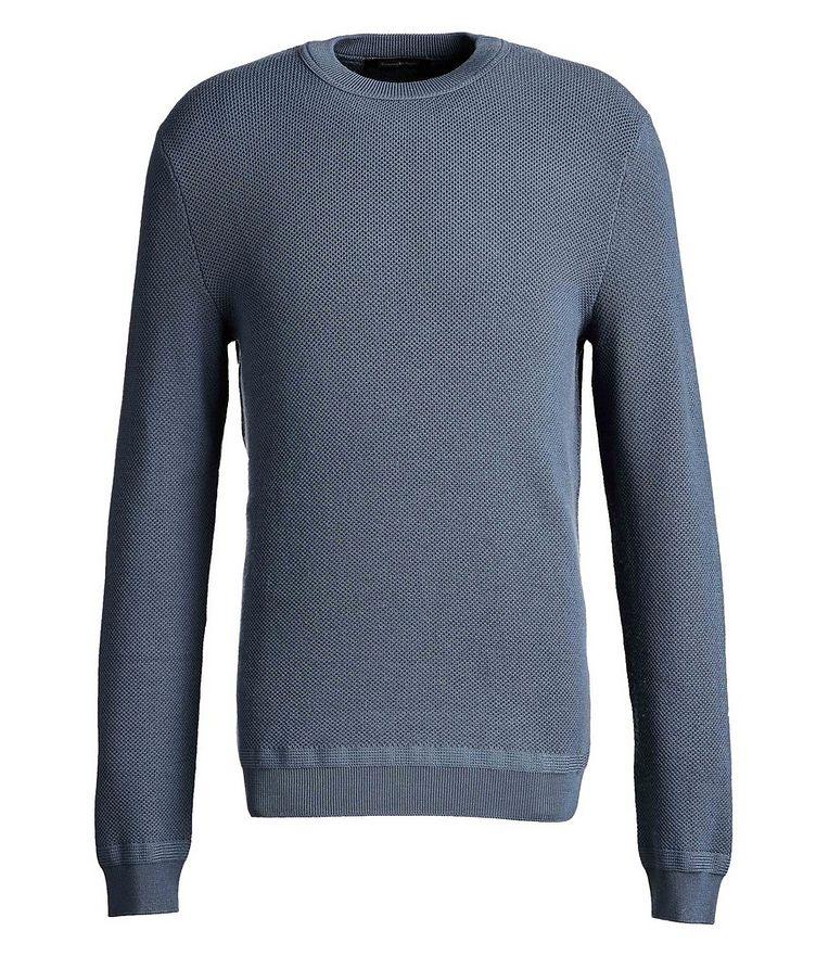 Waffle-Knit Wool-Cashmere Sweater image 0