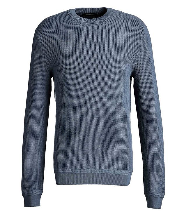 Waffle-Knit Wool-Cashmere Sweater picture 1