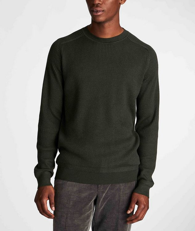 Ribbed Wool-Silk Sweater picture 2