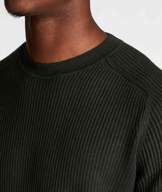 Ribbed Wool-Silk Sweater picture 4