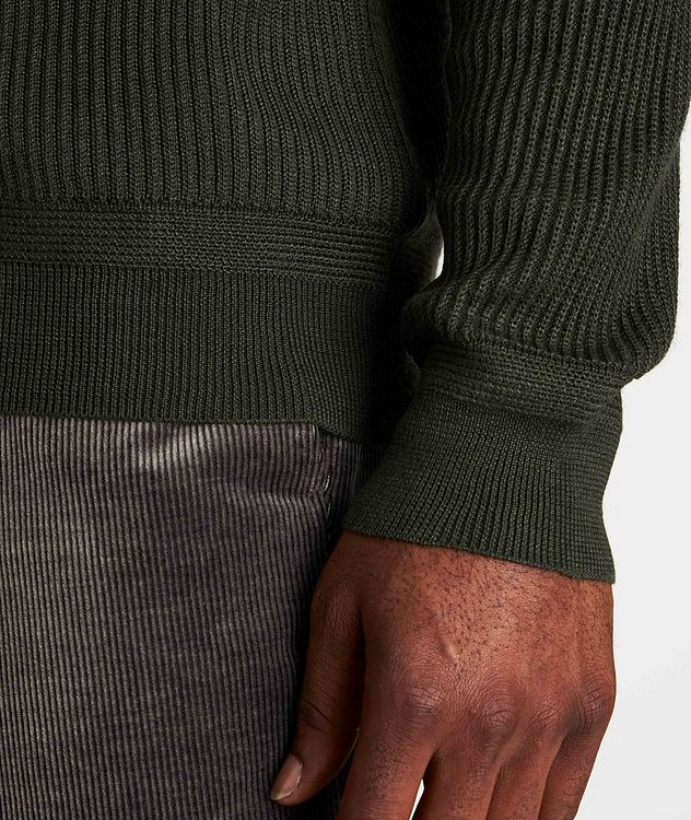 Ribbed Wool-Silk Sweater picture 5