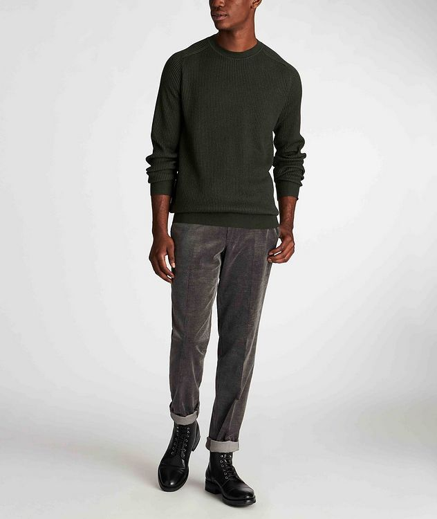 Ribbed Wool-Silk Sweater picture 6