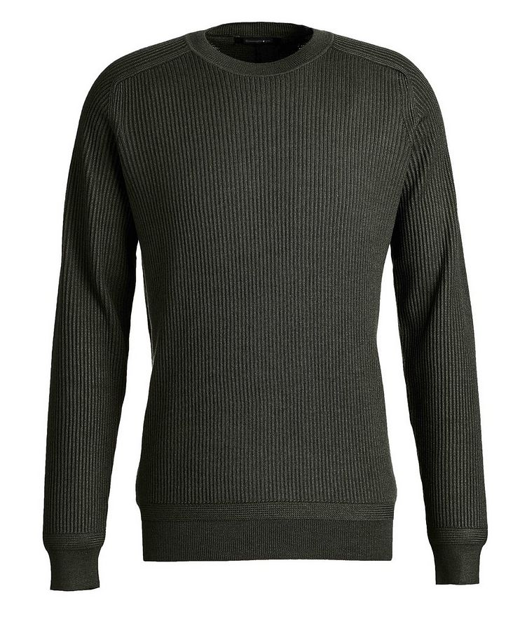 Ribbed Wool-Silk Sweater image 0