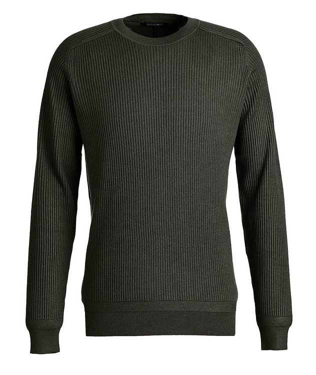 Ribbed Wool-Silk Sweater picture 1